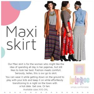 LuLaRoe Skirts - LulaRoe Floral Maxi Skirt Size Small